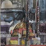 """""""ISTANBUL"""", FINELINER AUF PAPIER, 0,25x 0,35m, 2012"""