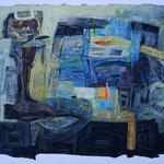 """AUGEN VERTILGENDES TIER"", ACRYL, 0,80x 0,60m, 2002"