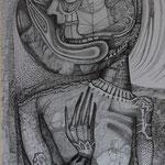 """""""OHNE TITEL"""", FINELINER, FEDER AUF PAPIER, ca. 0,50 x 0,80m, 2012"""