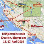 Pensionisten Hornstein Frühjahresreise Kroatien 2016