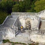 Château de Buoux, l'escalier monumental