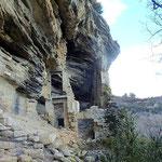 Les ruines troglodytiques du rocher des Druides