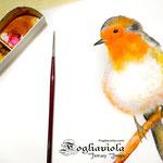 Dipingendo il passero sul davanzale