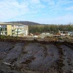 Blick vom ehemaligen Parkplatz: die letzten Gebäude