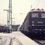E41 284 Bw Hagen-Eck im Bahnhof Siegen vor Zug 2437 nach Hagen