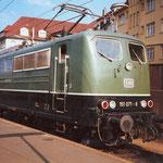 151 072 Bw Hagen-Eck als Zuglok für Personenzug nach Dillenburg im Bahnhof Siegen am 02. September 1984