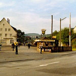 Weidenau 1962: Kleinbahnhof der KWD, genannt Vorbahnhof (Aufnahme: Sammlung Burkhard Schneider, Weidenau)