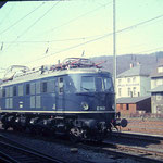 E19 01 Bw Hagen-Eck im Bahnhof Siegen, März 1969