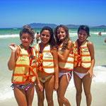 Das brasilianische Banana-Boat Olympia-Team