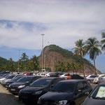 Unser Hotel war vor dem Leme-Strand, der direkt neben der Copacabana liegt. Die Strände gehen ineinander über.