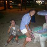 Spielecke vor einer Strandbar...