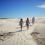 Entwieder ging´s über die Dünen oder über die Strandpromenade zurück...