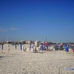 Wir sind meistens geblieben, bis die Strandbars am Strand dicht gemacht haben.