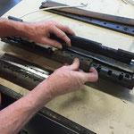 aggancio barre morsetti su supporto (3 supporti per cilindro)
