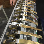 regolazione punte di pinza per tenuta fogli carta/cartoncino con lamelle in ottone da 0.03mm