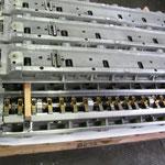 set 7 wagen revisionati R804/7b (customer propriety) on custom wooden pallett.
