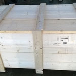 wooden box ready to picking up