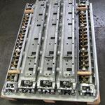 set 7 wagons R804/6 (customer propriety) on custom wooden pallett.