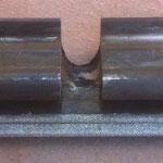 esecuzione primo cilindro lastra (11 morsetti) con solo ripristino a diamantatura su barra di presa