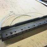 barra porta morsetti smontata (3 pezzi per cilindro lastra)