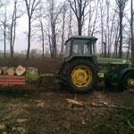 Holzernte im nassen und milden Winter