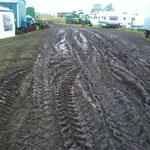 Leider fiel am Freitag und Samstag zu viel Regen für den Boden