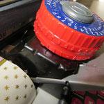 Spiel Schreibmaschine,  der Schreibkopf