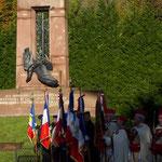 コンピエンヌの記念碑での式典