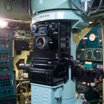 潜望鏡。こちらはそれなりに見える。「潜望鏡を上げろ!」と遊んでいたら「動かさないでね」と係に怒られる