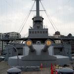 こちらは我が日本の独立を守った戦艦三笠