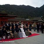結婚式に出くわした。日曜ということもありかなりの観光客に囲まれる。