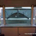 展望車からの機関車を眺める