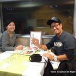食堂車で出会った日本人のご夫婦。ナイジェリア勤務だそうです。