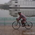 雨でも元気に走ります!