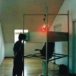 Mindbox, 1999, with performer and viewer