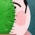 """Detail – Risographie """"Kaktus"""""""