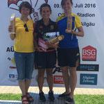 Siegerehrung Damen - Susann Vorberg belegt den dritten Platz