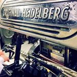 ドイツ製の活版印刷機、ハイデルベルクプラテン