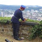 Vorbereitungen zum Böllerschießen auf der Festung Ehrenbreitstein (c) Nina Borowski