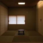 狭い空間を間接照明と拡散照明を有効に使い、より奥行きのある空間に。