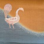 夏麻帯「水辺の詩」孔雀