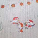 夏帯「国芳金魚ビア・ガーデン」