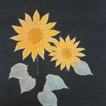 夏帯「向日葵」