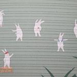 夏帯「ラジオタイソウウサギ」