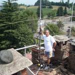 VERTICALE per i 50 Mhz, MANTOVA MODIFICATA CON BALUN , BIBANDA 2X4MAX  VHF-UHFE L'INSTALLATORE IN POSA..