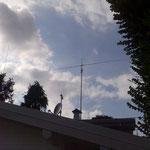 VISTA CON BIBANDA VHF-UHF SUL PINO (LATO SINISTRO)