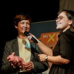 Mit Bettina Bundszus bei der Mixed-Up-Preisverleihung 2017 (Foto: Karin Kuttner)