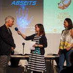 Buchpremiere Bremer Schulhausroman (mit Alexia Sieling und Richard Reich, Foto: Christopher Klerings)
