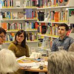 Mit Irene Weber Henking und Bruno Pellegrino bei 4+1 in Chur (Foto: Tanja Pete)