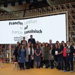 """Mit den Beteiligten rund um """"Scène 20"""" auf der Frankfurter Buchmesse 2017 (Foto: Staatstheater Mainz)"""